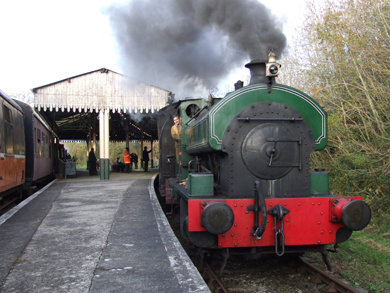 A steam train at The Loop in Downpatrick.