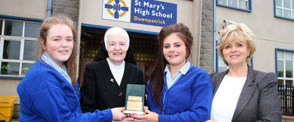 Two students at St Mary\'s High School have been honoured with a United Nation\'s award for their charitable work.