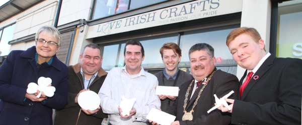 Love Irish Crafts in Downpatrick in St Patrick Square has launched a new porcelain range with ceramacist Austyn Finnegan.