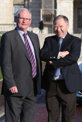 Tom Walsh, Clerk of the Course, with Circuit of Ireland event director Bobby Willis.