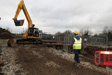 Work begins at the £2million waste water treatment works behind the industrial estate in Annacloy.
