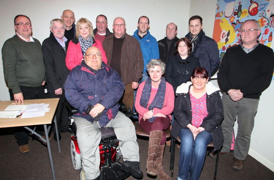 The new Crossgar Area Community Association elected at an AGM in the Crossgar Community Centre.