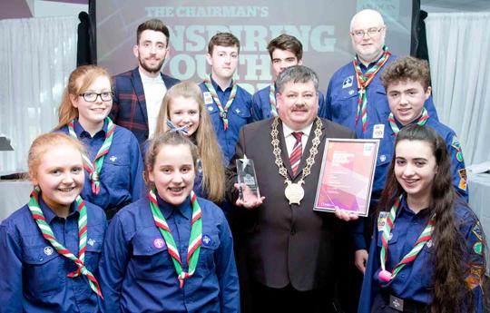 Downpatrick Scouts won the Environmental Section.
