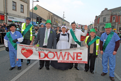 The Down Community Health Committee put up a great float in the parade and received much support from the crowd.