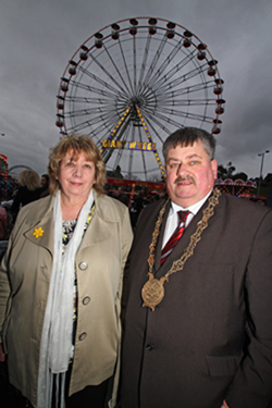 Councillor Billy Walker with his wife Marilyn Walker at the Community Celebration in Downpatrick.