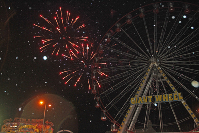A spectacular fireworks display marked the end of Down District Council.