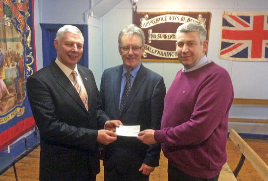 A contribution towards the renovation of the Ballynahinch War Memorial.
