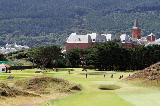 The scene at Royal County Down Gold Club where the Irish Open will take place from May