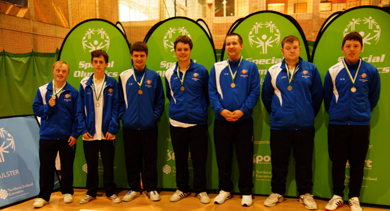 Shimna Stars were runners up in Division one  in the Ulster Special Olympics basketball.