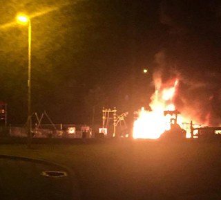 The intense fire in the Crossgar playpark began just before 2am early Saturday morning.