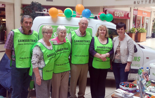 South Down MLA Caitriona Ruane, right, has called for more support for the Samaritans in the South Down area.