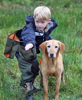 Jinior dog guru Cole with his dog Chloe in action.