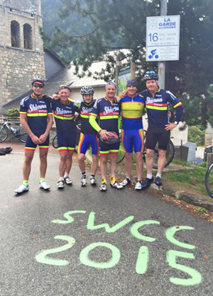 Bend 16 Alp d'Huez: The Shimna Wheelers in France.