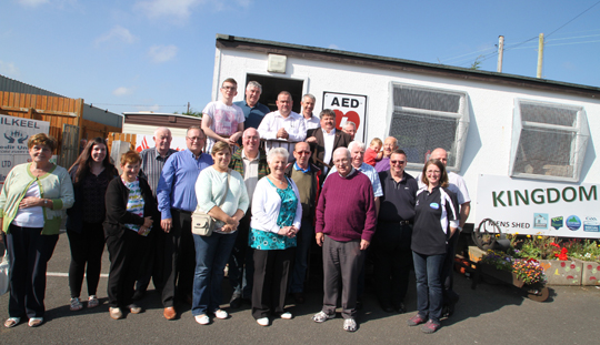 Members of the CDRCN at the Men's Shed beside the Kingdom Youth Club.