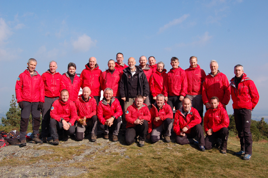 Justice Minister David Ford pictured with the Mourne Mountain Rescue team.