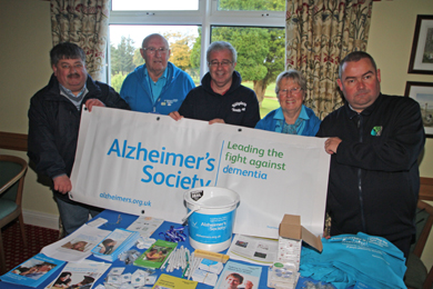 Councillors Billy Walker and Terry Andrews were supporting the Alzheimers Society.