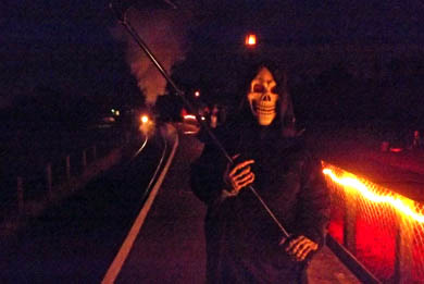 The ghoul will be saying hello - an d maybe goodbye! - to all the visitors to the Downpatrick railway.