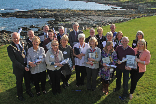 Participants in the recent maritime guides course organised by Strangford LOugh and Lecale Partnership pose for a photo at historic Ardglass Golf Club.