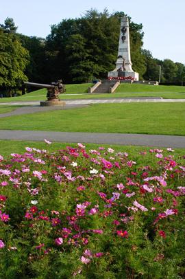 The Ward Park War Memorial in Bangor.