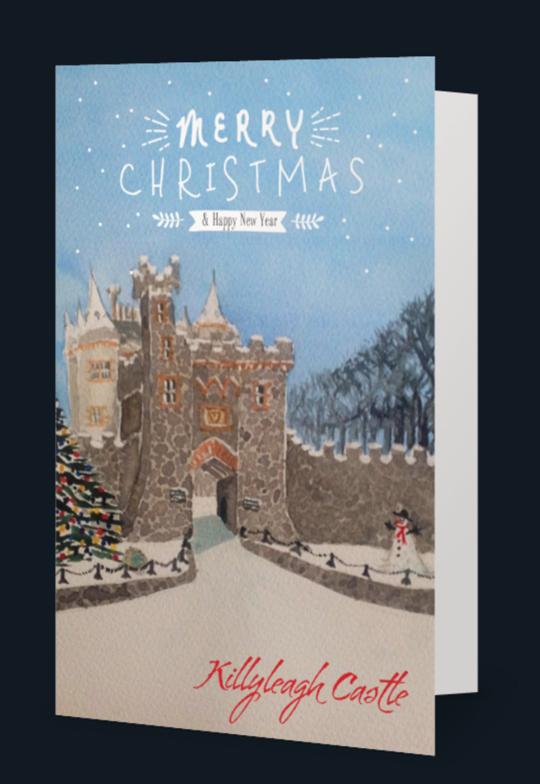KILLYLEAGH CASTLE CHRISTMAS CARD