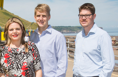 Daniel Wittle, centre, with Laura Whittle, Sales Director, and Edward Whittle, Operations Director.