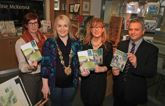 At the launch of the new Newry Mourne and Down District Council wide arts and culture programme were Rachel Kennedy, Arts Officer at Down Arts Centre; Cllr Naomi Bailie, Council Chairperson; Linda McKenna, Down County Museum Education Officer with Declan Carrol, Newry and Mourne Museum.