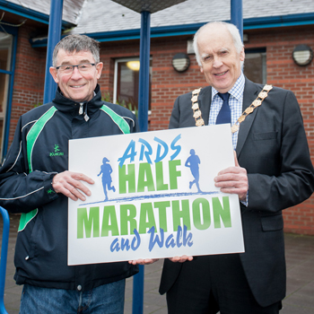 Pictured (from left to right): David Seaton, Chairman of Athletics Northern Ireland and Mayor of Ards and North Down, Alderman Alan Graham.