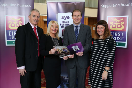 Peter McMahon, Brenda Buckley, Mark McKeown and Jill Crawford pictured at the launch of the Business Eye Small Business Awards.