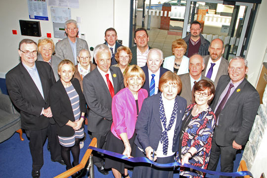The ribbon was officially cut by Sister Anne McCourt at Clare Lodge following the £1million refurbishment.