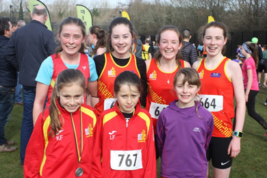 ront L to R Kirsti and Lucy Foster and Anna Gardiner the Primary School Team winners at Stormont on Saturday with back Row L to R Laura Green, Ella Carroll, Aoife Cochrane and Edie Carroll