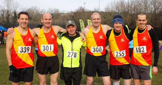 the East Down Mens Team on Saturday at Stormont L to R Paul Burns, Dee Murray, Ian McCracken, Mark O'Connor, Stephen Cassidy and Davy Foster
