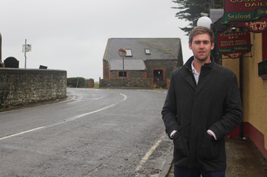 Alliance Councillor Patrick Brown concerned about the Chapeltown junction outside Ardglass on the Strangford Road.
