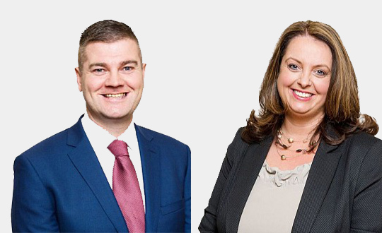 The two new South Down SDLP MLA's in the Northern Ireland Assembly... Colin McGrath and Sinead Bradley.
