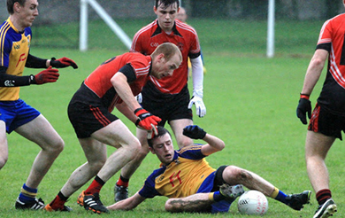 Rostrevor on the break against Tullylish.