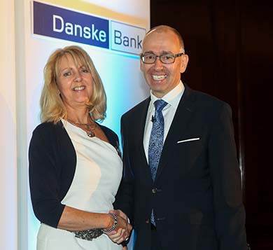 Nuala Taggart is pictured with Danske Banke CEO