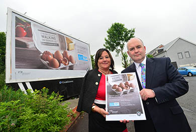 Detective Chief Superintendent George Clarke is pictured along with Anne Connolly, Chair of the Northern Ireland Policing Board at the launch of the Domestic abuse advertising Campaign.