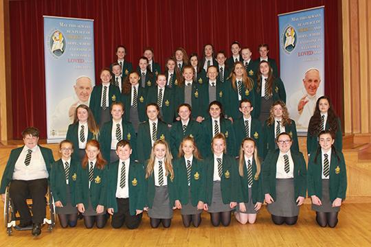 The St Malachy's High School junior choir.