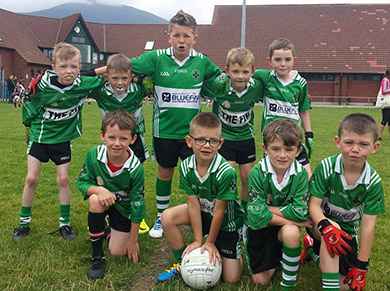 Aughlisnafin Year 4's at the Go Games hosted by Bryansford on Saturday morning.