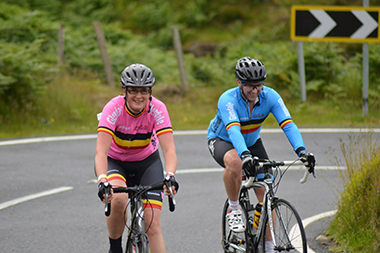 Ciara Osborne & David McLeish from the Glendale  CCl tackle the Spelga climb.