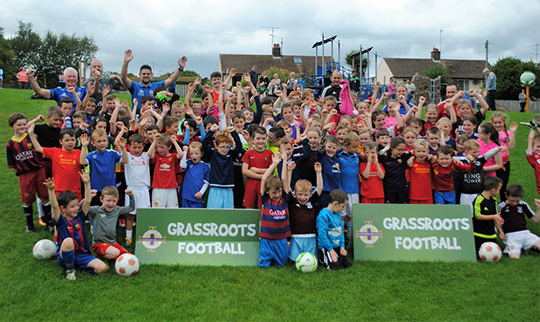 Strangford supports the IFA soccer programme in the village.
