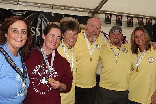 The winners: congratulations to Dundrum Coastal Rowing Club for the best times at the Skiffie Worlds 2016 international championships.