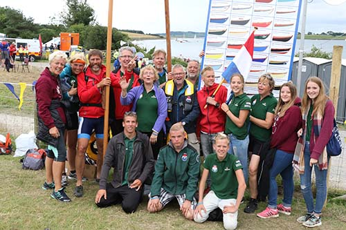 The rowers who came all the way from the Netherlands.