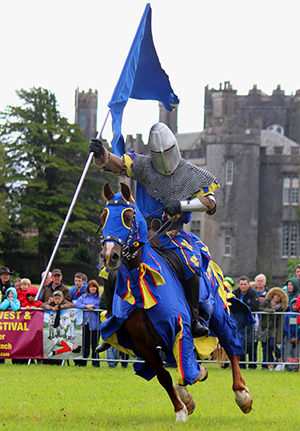 Come along and enjoy the excitement of lance and sword at the Medieval jousting event at Birr in County Offaly.