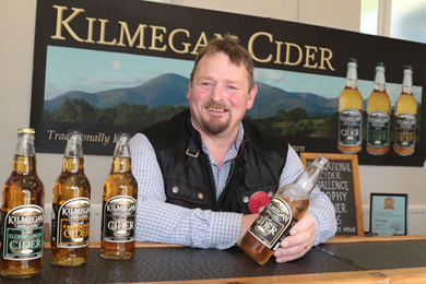Andy Boyd of Kilmegan Cider pictured at the Ballynahinch harvest and Game Fair.