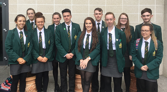 Ready to go places: A-Level students from St Malach'ys High School in Castlewellan.