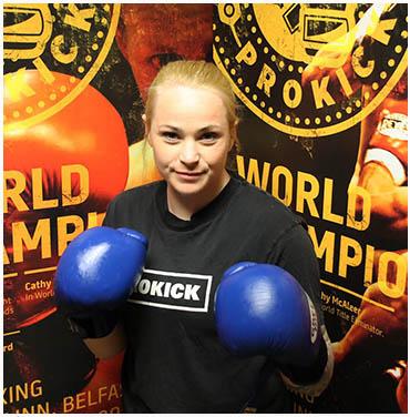 Samantha Robb, World Kickboxing champion, won her bout in Ards last weekend.