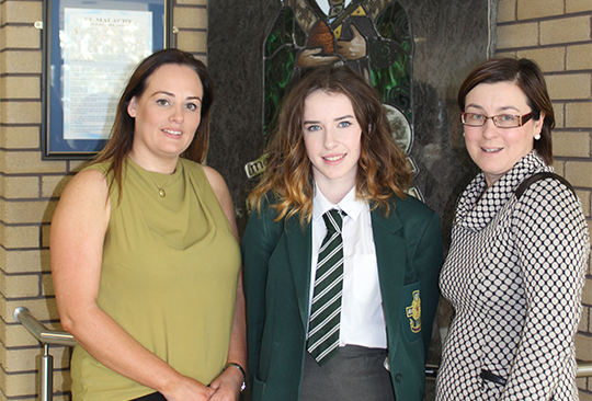 Anna Ni Nuallain has excellent in Irish language studies at St Malachy's High School in Castlewellan.