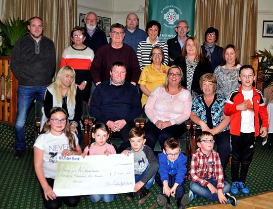 Pads in a Pod received £7600 after a golf day at St Patrick's Golf Club in Downpatrick.