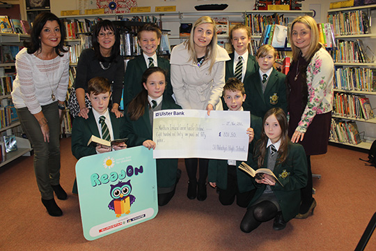 Well done to the pupils at St Malachy's High School in Castlewellan who helped raise £731.50 in a ReadOn.