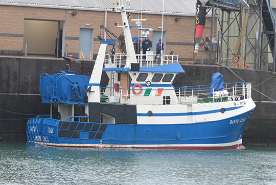 The David Liam, a new arrival in Ardglass fishing port.